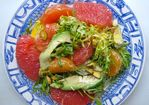 MIXED CITRUS AND AVOCADO ON A BED OF FRISEE Recipe