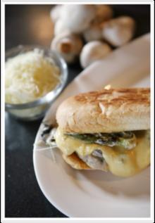 Spicy Mushroom Torta with Queso Quesadilla Recipe