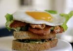 Bacon, Lettuce, Tomato, Avocado and Fried Egg Sandwich Recipe