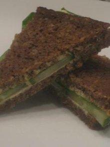 Curried cream cheese and cucumber tea sandwiches Recipe