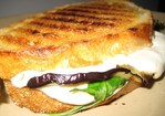 Grilled Eggplant, Arugula, and Mozzarella Panini Recipe