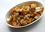 Thyme and Duck Roasted Sweet Potatoes and Celery Root Recipe