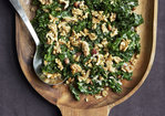 Kale with Pancetta, Cream and Toasted Rosemary Walnuts Recipe