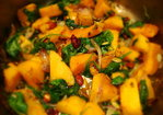 Curried Butternut and Spinach Saute Recipe