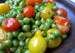 Fresh Heirloom Cherry Tomatoes and Peas Recipe