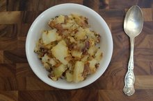 Smashed potatoes with Caramelized onions Recipe