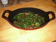 Spinach with Fennel and Bacon Recipe