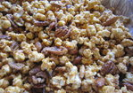 Caramel Corn with Pecans and Almonds Recipe