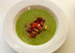 Glorious Green Gazpacho with Brandywine Garnish Recipe