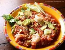 Gazpacho with Shrimp Ceviche and Avocado. Recipe