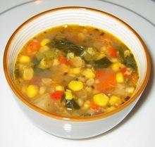Spicy Corn Chowder with Corn Husk Stock Recipe