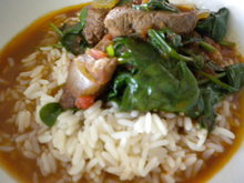 Spinach and Lamb Stew Recipe