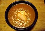 Carrot-leek soup with curry, ginger and garlic Recipe