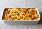 Al Forno's Penne with Tomato, Cream & Five Cheeses Recipe