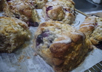 Maple Oatmeal Berry Scones with Maple Bourbon Drizzle Recipe