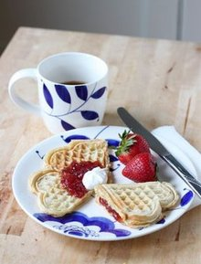 Vafler - Norwegian heart waffles Recipe