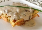 Chive N Cheddar Buttermilk Waffles and White Gravy Recipe