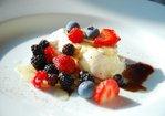 Burrata with Garden & Wild Berries, Honey, Balsamic and Fresh Ground Pepper Recipe