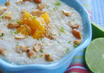 Coconut and Lime Rice Pudding with Mangoes and Cashews Recipe
