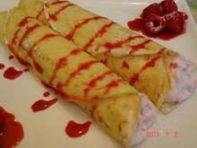 Crepes with Raspberry Fool Recipe