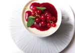 Vanilla Panna Cotta with Red Currant and Raspberry Coulis Recipe