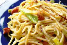 Creamy Spring Garlic Carbonara Recipe