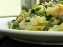 Couscous risotto with spring greens Recipe