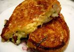 Grilled Cheddar Sandwich with Spring Allium Recipe