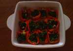 Green-Stuffed Yellow Peppers Recipe