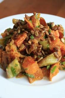 Roast Sweet Potato (Kumura) Salad with Toasted Cumin, Lime, and Fresh Mint Recipe