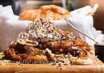 Croissant French Toast Stuffed with Nutella and Topped with Coconut & Banana Recipe