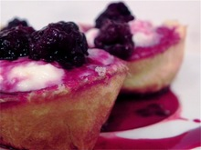Pancake cups with ricotta, lemon, and blackberry Recipe