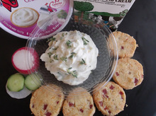 Cheese Mousse on a Homemade Crackers and Taramosalata Canapés with Radishes Recipe