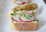 Spring Radish Crostini with creamy Herb Butter Recipe