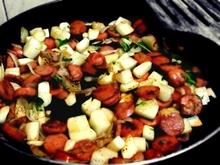 Radish and Sausage Quiche Recipe