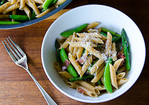 Spring Penne with Sugar Snap Peas & Asparagus Recipe