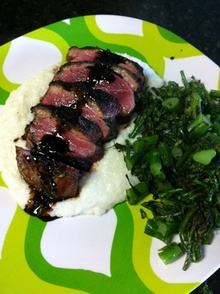 Duck with Broccolini & Tart Dressing Recipe