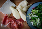 Goat cheese, pear and jamon iberico salad Recipe