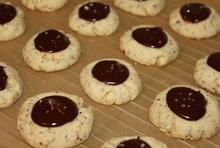 Almond Thumbprint Cookies with Dark Chocolate and Sea Salt Recipe
