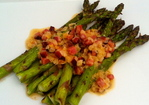 Grilled Asparagus with Creamed Bacon Recipe