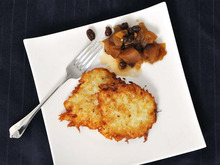 Latkes with Apple Ginger Chutney Recipe