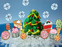 Christmas Tree Coconut Macaroons Recipe