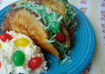 Cakespy: Easter Candy Dessert Taco Plate Recipe