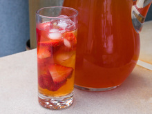 Strawberry-Rhubarb Iced Tea Recipe