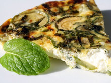 French in a Flash: Easy-Omelet with Zucchini, Goat Cheese, and Mint Recipe