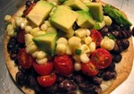 Dinner Tonight: Black Bean Tostadas with Corn Relish Recipe