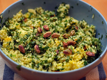 Dinner Tonight: Green Rice with Pistachios Recipe