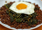 Dinner Tonight: Braised Lentils with Winter Greens and a Fried Egg Recipe