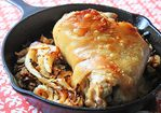 Broiled Ham Hock with Braised Cabbage Recipe