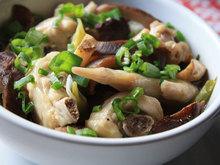 Steamed Chicken and Shiitake Mushrooms Recipe